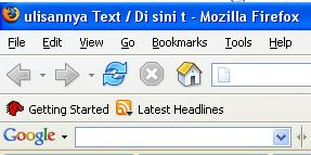 Contoh tulisan pada tab browser
